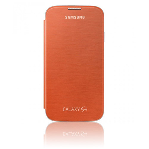 Samsung Flip-Cover für Galaxy S4 Orange