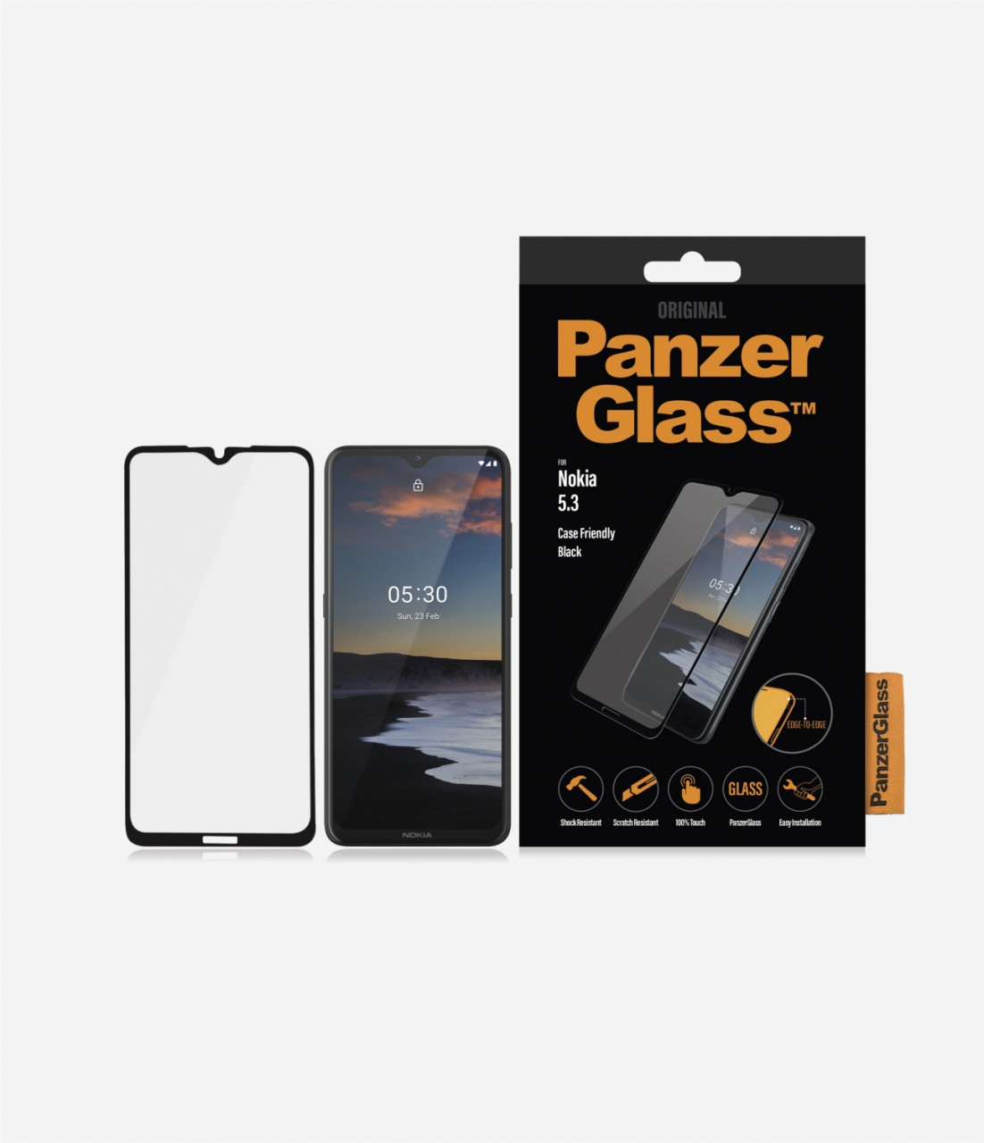 PanzerGlass Case Friendly Displayschutzfolie kompatibel mit Nokia 5.3