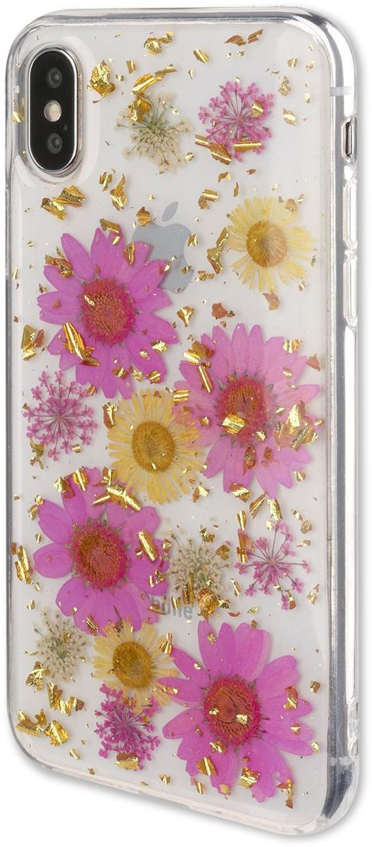 4smarts Soft Cover Glamour Bouquet Galaxy A6, pink/gold