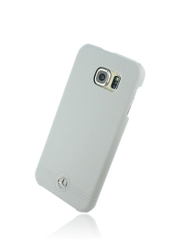 Mercedes-Benz Hard Cover Leather Front Grill Grey, Pure Line für Samsung G920F Galaxy S6, MEHCS6EMSG