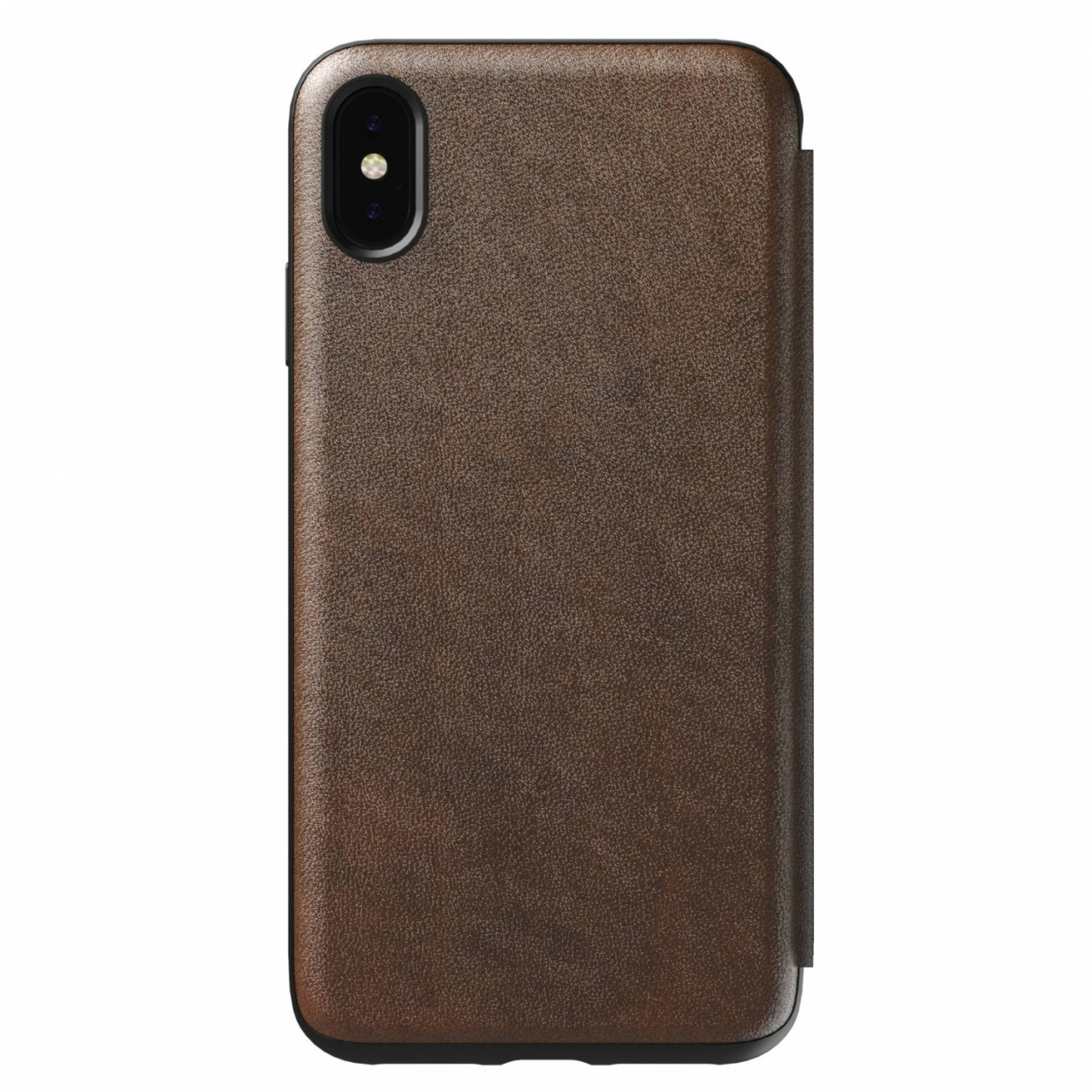 Nomad Tri-Folio Leather Rugged Rustic Brown iPhone Xs Max