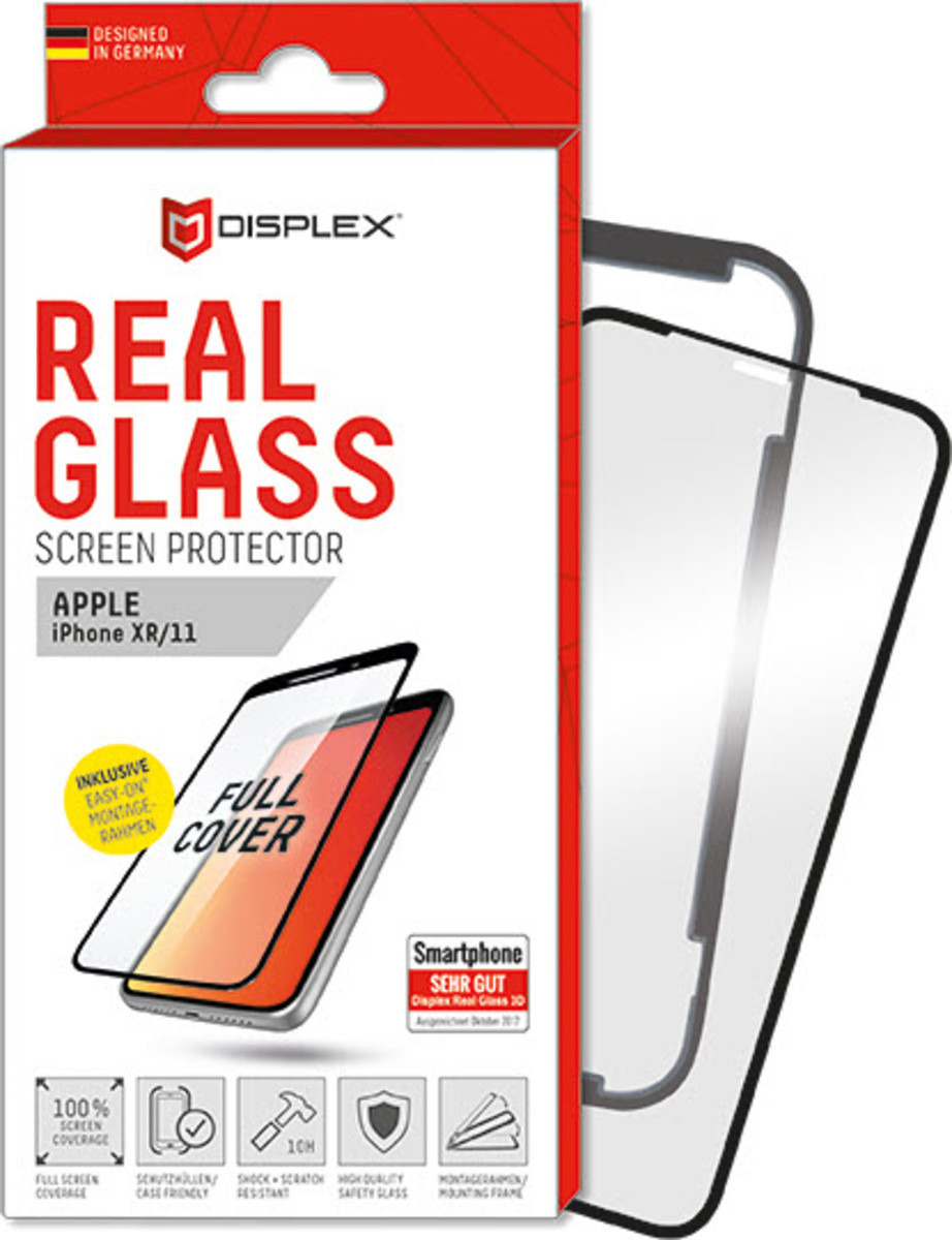 E.V.I. DISPLEX Displayschutz aus Real Glass 3D für iPhone 11