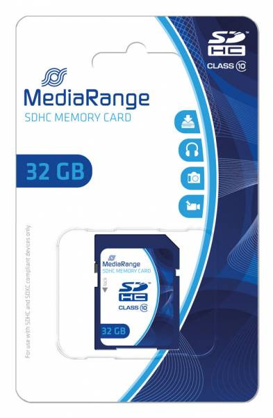 MediaRange SDHC Speicherkarte, Klasse 10, 32GB