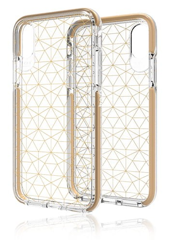 Gear4 D3O Cover Gold, Geometric, Victoria für Apple iPhone XS / X, IC8VICGGLD, Blister