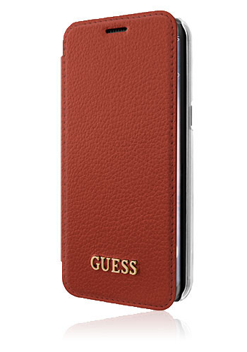 GUESS Book Case Iridescent Scarlet Red, für Samsung G950 Galaxy S8, GUFLBKS8IGLTRE, Blister