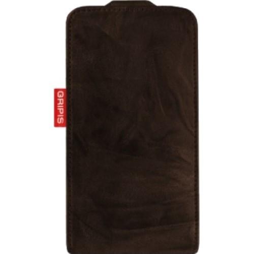 GRIPIS Agenda Bag (Creased/Knitter) Brown für iPhone