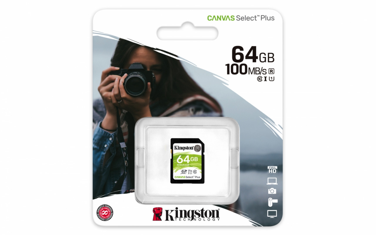 Kingston Canvas Select Plus SD - SDS2/64GB Class 10 UHS-I