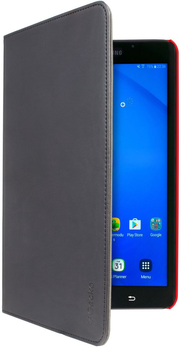 Telco Gecko Covers Easy-Click Cover schwarz/rot