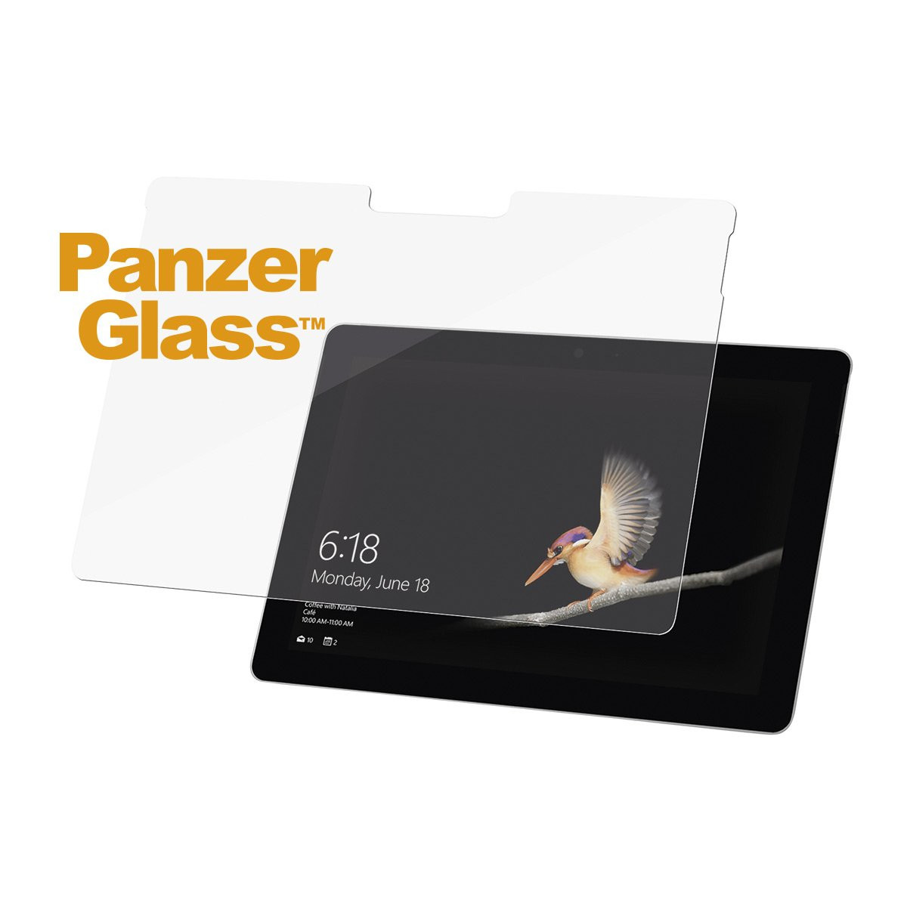PanzerGlass 6255 Displayschutzfolie, Microsoft Surface Go, Kratzfest, stoßfest, transparent, 1 Stück