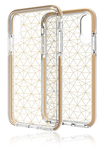 Gear4 D3O Cover Gold, Geometric, Victoria für iPhone X, Blister