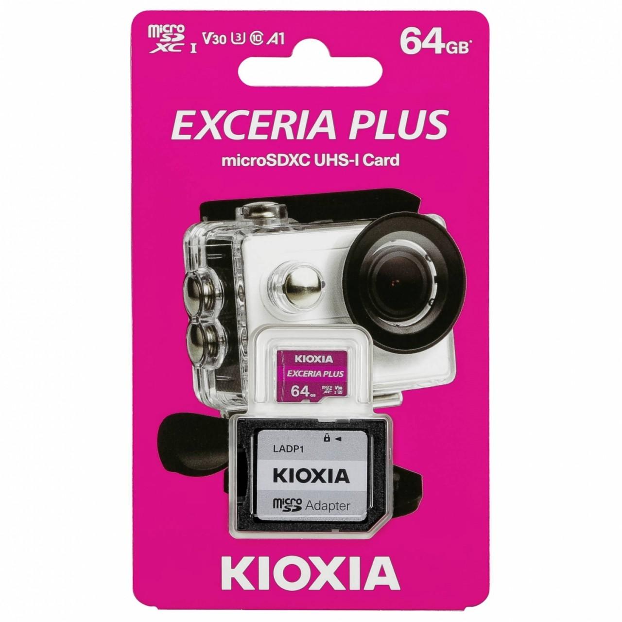 Kioxia Exceria Plus microSDXC 64GB Class 10 UHS-1 U3
