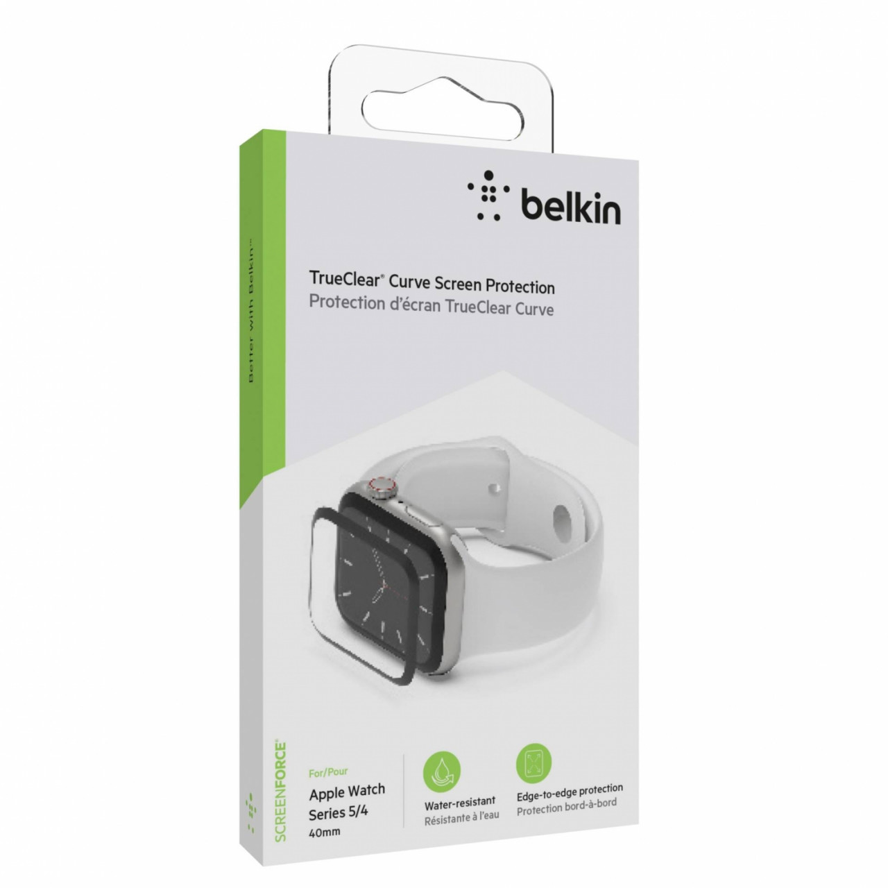 Belkin ScreenForce TrueCl. Curve Apple Watch 5/4 40mm OVG001zzBLK